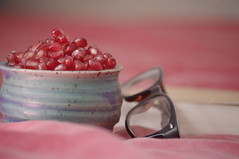 (atonoflove :3) Tags: red colors fruit glasses book bed pale ispiration fotografinewitaliangeneration