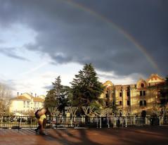 Arcoris placentino (Miss Mandarina) Tags: topf25 rain arcoiris lluvia rainbow topf50 sony pluie arcoris arcobaleno 2012 arcenciel extremadura plasencia pluja arcdesantmart provinciadecceres sonydsch20 missmandarina