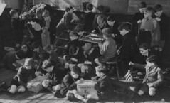 In their own little worlds (theirhistory) Tags: boy child kid schooluniform play chores education shorts blazer jacket shoes wellies jumper box string bricks room activity clothing socks primary junior uk gb class form school pupils students