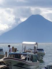 (sftrajan) Tags: mountain lake boats lago volcano see scenery view guatemala lac embarcadero vista vulcano panajachel volcan vulkan  lagodeatitln   lakeatitln