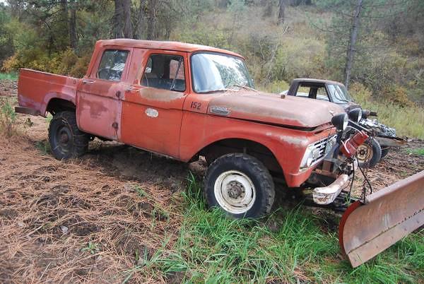 snow ford wheel truck four drive 4x4 cab pickup crew plow 1964 f250 crewcab