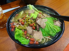 Beef Noodle @Guilin Mifen, Shanghai (Phreddie) Tags: china soup restaurant yum shanghai rice guilin beef chinese eat noodle mifen 131201