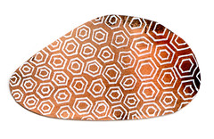 Pebble and pattern (Sandra Ovono - Atelier Bleu Verre) Tags: brown abstract motif ink watercolor pattern aquarelle pebble abstrait galet