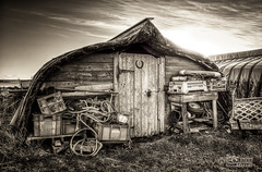 A Shed Load (solidtext) Tags: island boat shed holy northumberland hut lindisfarne upturned buoyant d7000 nikond7000
