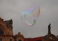 Giant Bubble In Old Town Square - Prague (Gilli8888) Tags: abstract czech prague bubble czechrepublic oldtown soapbubbles