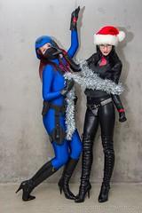 Cobra Christmas 09 (Katy DeCobray) Tags: christmas blue trooper black sexy glasses costume cobra cosplay femme joe gi catsuit baroness
