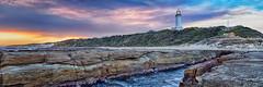 Norah Head 3 002 (Adam Phipps) Tags: sunset summer panorama lighthouse beach landscape pano australia nsw hdr norahhead hdrpanorama adamphipps