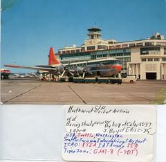 Seattle Tacoma Airport, c1950s (Rob Ketcherside) Tags: seattle sea tarmac northwest terminal seatac nwa northwestorient
