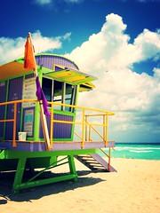 Miami Beach - Lifeguard tower (Stef 1977) Tags: miamibeach lifeguardtower bagnino vedetta