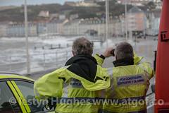 UK Weather. Huge tide hits Aberystwyth (www.atgof.co) Tags: coastguard storm weather wave gale aberystwyth prom massive promenade huge breaking tywydd rhodfa garw