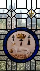 l'Ermellino nella vetrata del Castello di Blois