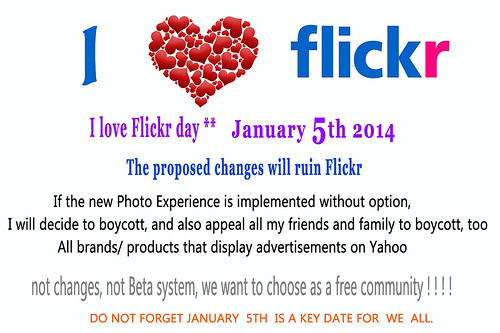 Collective action in opposition to the next changes on Flick-Yahoo without our opinion of users.