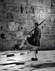 """ ..."" (tSos Greq) Tags: man male monument uniform masculine guard skirt athens explore greece grecia atenas syntagma masculino  greekcapital"
