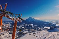 Yotei Dreaming (OzGFK) Tags: winter japan canon snowboarding volcano asia hokkaido skiing powershot niseko mtyotei yotei hirafu s100 mountyotei