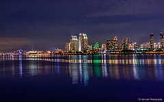 San Diego Skyline (a view from a brown dog) Tags: sandiegoskyline nighttimeviewfromcoronadoisland