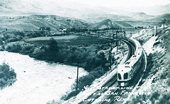 S.P. Streamline Train, 'City of San Francisco' entering Reno (SMU Central University Libraries) Tags: railroad train trains sp locomotives railroads tenders southernpacificrailroad cosf