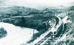 S.P. Streamline Train, 'City of San Francisco' entering Reno (SMU Central University Libraries) Tags: railroad train trains sp locomotives railroads tenders southernpacificrailroad cosf