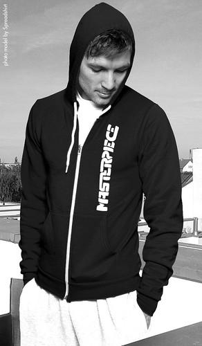 hoodie sweater font lettering sweatshirt spreadshirt masterpiece ziphoodiebyamericanapparel