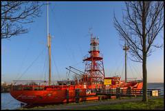 EVENING RED (ESOX LUCIUS) Tags: winter holland harbor ship vessel taco haringvliet hellevoetsluis lightship 2014 noordhinder