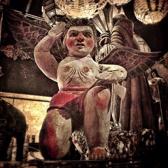Angelito-karateca (allophile) Tags: sculpture angel tubac mexicanfolkart laminar coloraccent mobilephotography karateca arizonapassages texturesquared iphoneography snapseed distressedfx