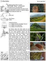 und Chashifus Notizen (cha.shifu) Tags: berg hand tea made tee plantage teeernte teeplantage grüntee gerollt niutou chashifu teetester bergtee