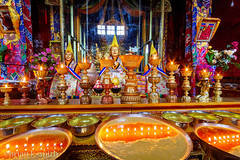Serdung Shrine with Butter Lamps - Ganden Monastery, Tibet (adventurocity) Tags: china travel vacation tourism photography photo asia photographer tour picture visit tourist tibet traveller adventure amdo kham prc  visitor lhasa peoplesrepublic bod  traveler eastasia    ngari mainlandchina     tsang   zngq
