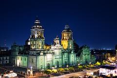 Mexico City (Pawelus) Tags: city church night mexico cathedral clear meksyk apiski