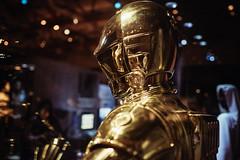 C-3PO (Head Detail) (iamkory) Tags: 35mm starwars fuji yoda r2d2 stormtrooper bobafett xwing darthvader newhope memorabilia c3po empirestrikesback returnofthejedi millenniumfalcon xt1