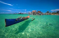 The Flying Boat (Yudhisa Putra) Tags: seascape beach nature indonesia landscape photography boat nikon natural bluesky bintan