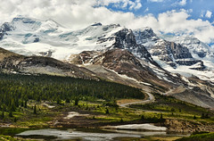 Springtime Along the Parkway (Jeff Clow) Tags: travel vacation holiday canada mountains spring bravo alberta massive majestic roadway mountainrange icefieldsparkway canadianrockies