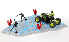The T-4 Buggy (soccersnyderi) Tags: mantis landscape lego space alien creation vehicle fi creature buggy sci moc