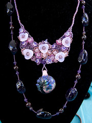 Gorgeous necklace by Shawnna Holmes features a pendant by Eli Mazet (marketkim) Tags: jewelry product eugene oregon saturdaymarket festival artfair eugenesaturdaymarket artfestival