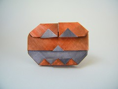Standing Jack (variation 2) - Francesco Mancini (Rui.Roda) Tags: origami papiroflexia papierfalten pumpkin abobora citrouille halloween standing jack francesco mancini