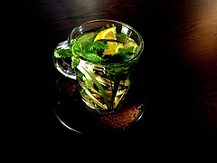 #GreenTea with #Lemongrass and #peppermint #leaves (RenateEurope) Tags: greentea lemongrass peppermint leaves digitalarttaiwan