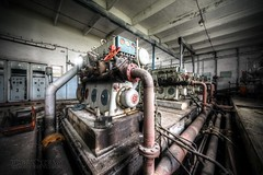 (satanclause) Tags: abandoned mine maschine engine oputn dl industry czech hdr urbex