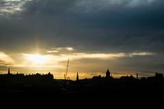 Skyline Sun Down (Jean I Cresol) Tags: september 10th 2016 edinburgh city cityscape skyline sunset sundown sun evening scotland hdr