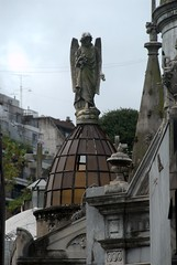 An Angel atop a stylized glass domed tomb (VinayakH) Tags: tombs tomb recoletacemetery recoleta larecoletacemetery cemetery buenosaires graves argentina latinamerica southamerica mausoleum artnouveau artdeco neogothic baroque architecture