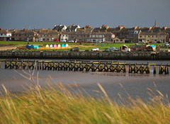 Amble Harbour from north of the Coquet estuary (neil mp) Tags: northumberland amble coquet rivercoquet estuary coquetestuary beachhuts harbour