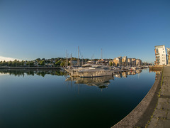 A wanderful Day at Portishead (RS400) Tags: blue sky reflection water sea cool wow amazing wicked boat boats lake buildings landscape transport sail sailing life wide angle olympus south west somerset