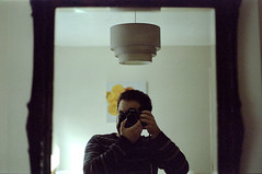 Nikon F801 (Noah MM) Tags: nikon f801 kodacolor kodak c41 epson film analogue 35mm selfie selfportrait mirror frame lamp camera slr