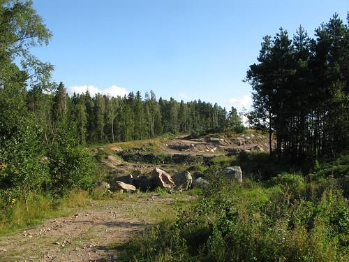 Grustäckt norr om Romelanda 2011