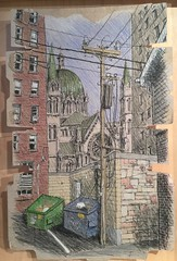 Cathedral Basilica of Saint Louis (Peter Rush - drawings) Tags: cathedralbasilica cathedralbasilicaofsaintlouis stlouis missouri peterrush drawing sketch urbansketchers usa