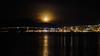 Moon above Tromsø (Bente Nordhagen) Tags: hav høst måne mørke speiling utsikt moon bridge sea reflections darkness tromsø mountains silhouette
