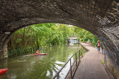 Regent's 4 (stevefge) Tags: london regentscanal towpath canal water bridges kayak arch reflectyourworld
