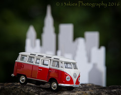 A travelling mind (HWW) (13skies) Tags: windowwednesday wednesday vwminivan drive setting city cityscape skyscrapers distance door windows perspective rock travels
