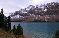 Bow Lake (Larry Myhre) Tags: bow lake mountains banffnationalpark alberta canada rockymountains icefieldsparkway scenery bcalbertasept2016