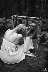 REFLECTION (carlos.odeh) Tags: nikon d810 portrait noir blackandwhite woman mirror bnw