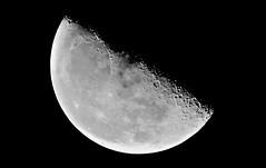 Third Quarter  55% of Full  Sat. 10.22.2016   4:27:57 am (~nevikk~) Tags: moonshotssat10222016 thirdquarter 55offull clearsky stars moonlight moonshadows kevinkelly
