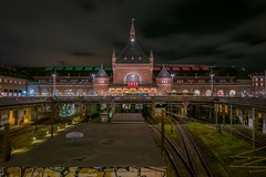 Central Station (karinavera) Tags: travel nikond5300 centralstation street city longexposure denmark train night kbenhavn copenhagen