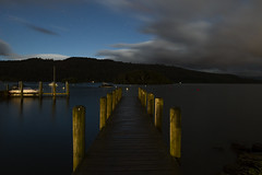 Lake Windermere Night (jpgrbeat) Tags: lowlight slowwater night lakewindermere england lakedistrict stars pier